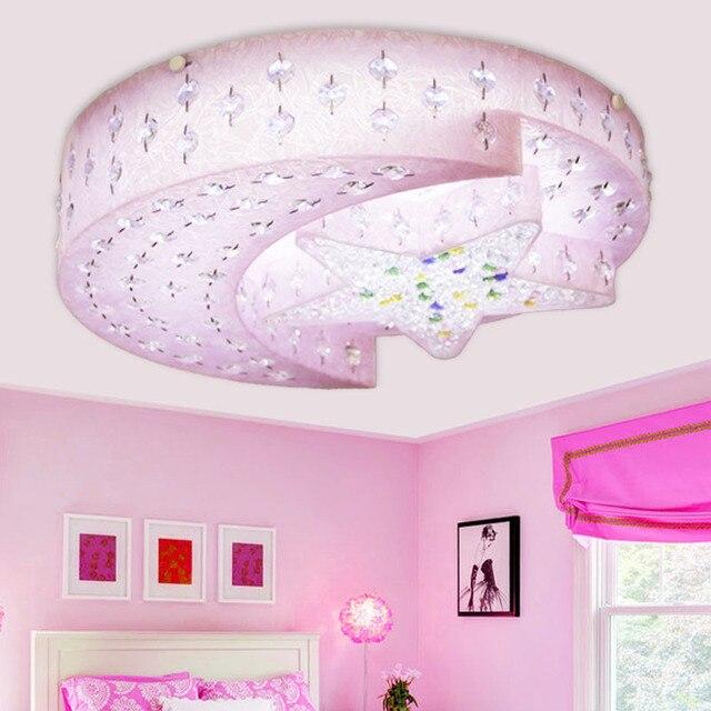 Estrella Luna lámpara niños dormitorio masculino cristal de la ...