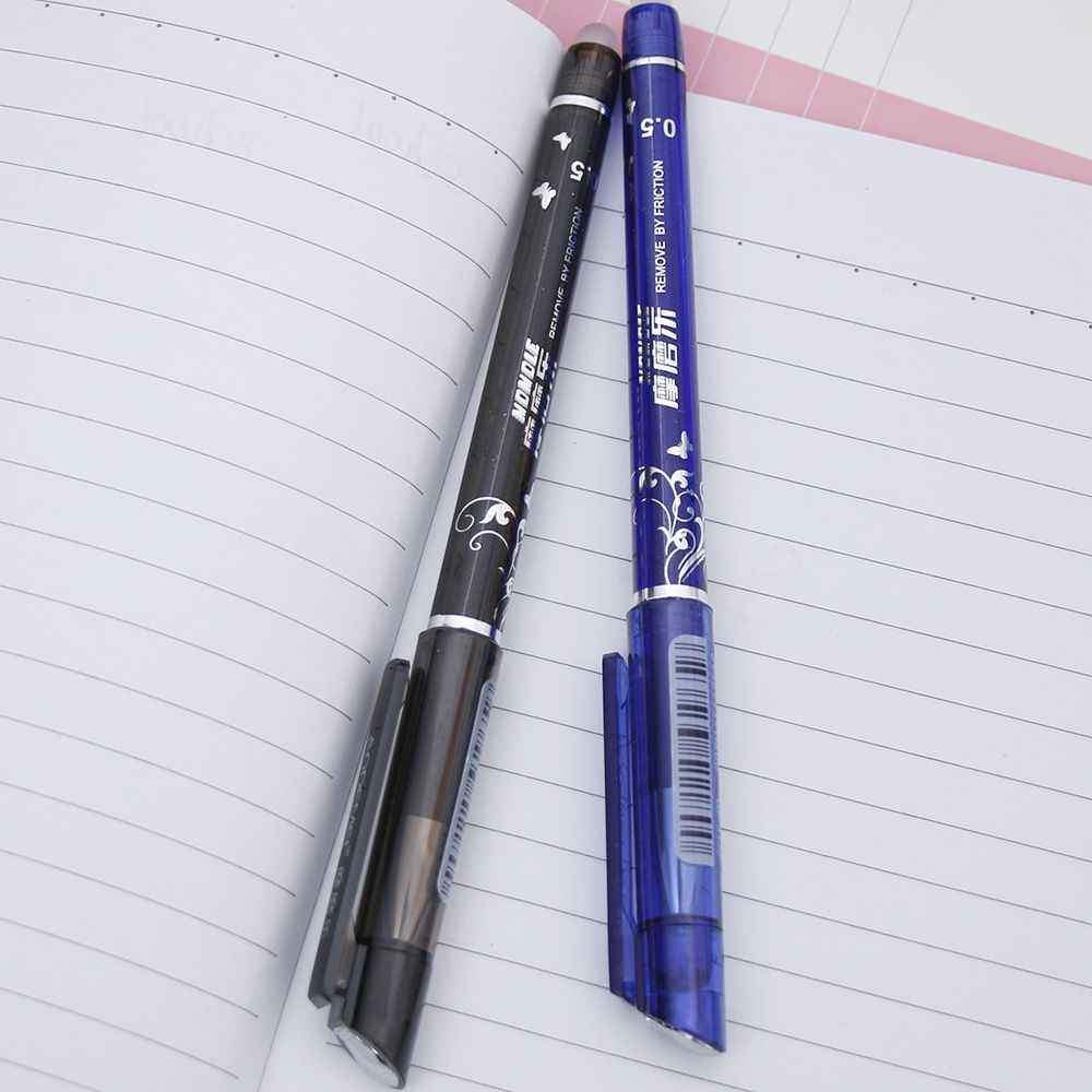 1 PC מחיק ג 'ל עט 0.5mm ציפורן כחול שחור מילוי אופציונלי תלמיד בית ספר משרד מכתבים בדרגה גבוהה מותג מתנה עט 4 צבע