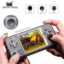 DATA FROG Upgraded Version Retro Handheld Game Console 64Bit 16GB 3.0Inch Built-in 3000 Classic Games Support For NEOGEO/CP1/CP2
