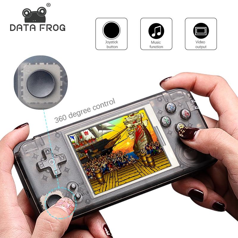 DATA FROG Version améliorée Console de jeu portable rétro 64Bit 16 GB 3.0 pouces intégré 3000 jeux classiques Support pour NEOGEO/CP1/CP2