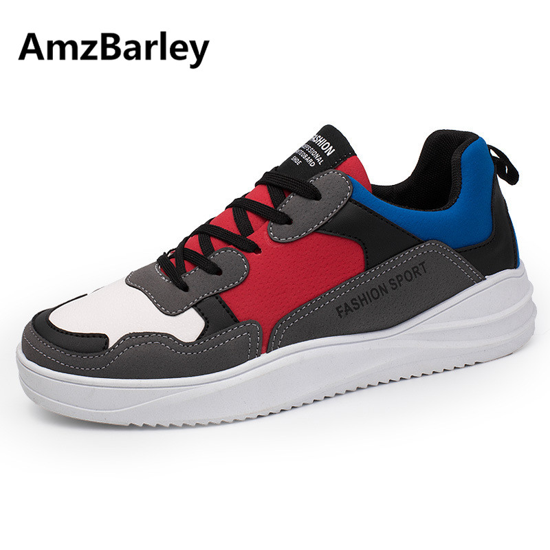 AmzBarley Men Shoes Flats Patchwork Footwear Shoe Suede Casual Low Top Man's Walking Hip Hop Zapatillas Hombre Fashion 2018 male casual shoes soft footwear classic men working shoes flats good quality outdoor walking shoes aa20135