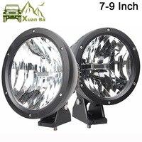 Comprar XuanBa, 2 uds., luz Led de trabajo redonda 4D de 7 /9 pulgadas 50W, luz antiniebla de conducción de 12V para 4x4, faros delanteros todoterreno para camiones y Tractor de 24V SUV 4WD ATV