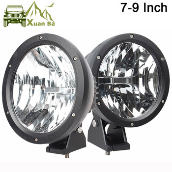 XuanBa 2Pcs 4D 7 /9 Inch 50W Round Led Work Light 12V Driving Fog Lamp For 4x4 Off road Truck Tractor 24V SUV 4WD ATV Headlights 1pcs 4 7 9 inch 35w 12v dhs hid xenon driving work fog light spotlight off road with lens cover