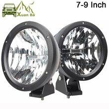XuanBa Luz Led redonda de trabajo lámpara antiniebla de conducción, 2 uds., 4D, 7 /9 pulgadas, 50W, 12V, 4x4, camión, Tractor, 24V, SUV, 4WD, ATV