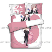 Nanami ChiaKi Danganronpa 2 Goodbye Despair Queen Full Twin Size Bedding Set 3D Printed Duvet font