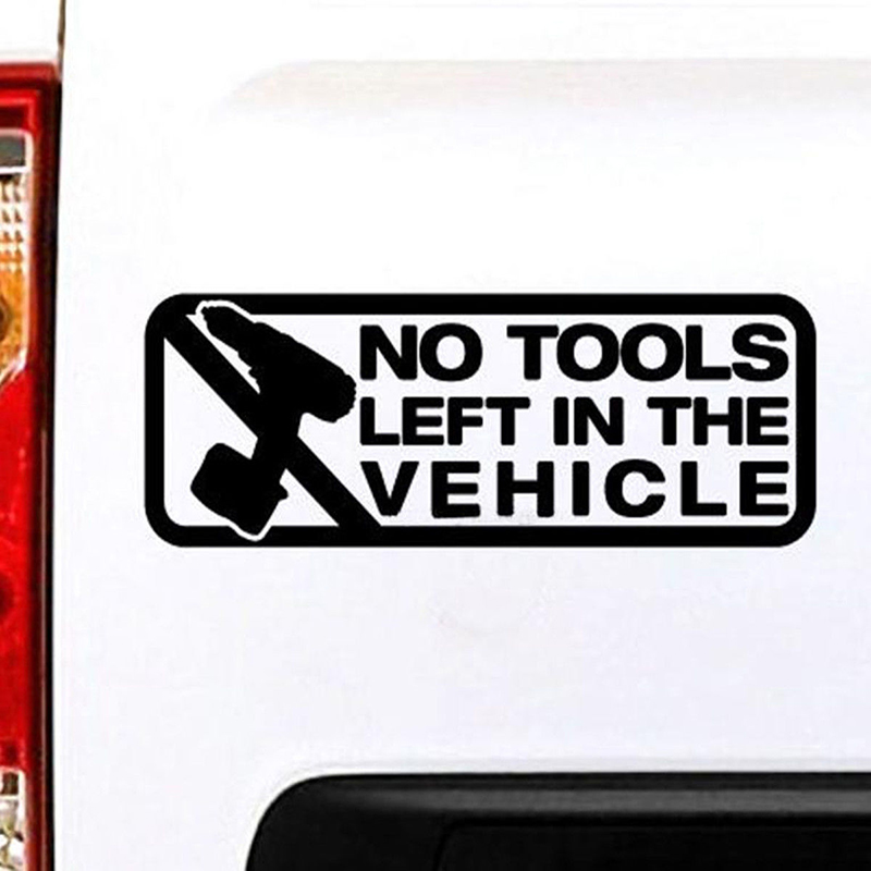 No Toons Left In The Vehicle Personality Art Painting Car Stickers Vinyl Decor Decals Rear Window Car Sticker