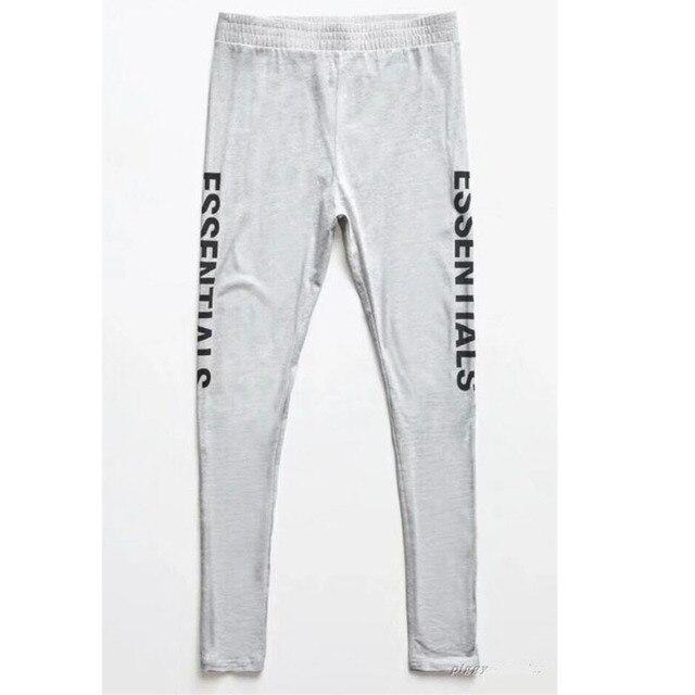 77365da8 Fear Of God Sweatpants Men Women FOG Essentials Boxy Graphic Sweatpants  Jogger Streetwear Hip Hop Elastic Fear Of God Sweatpants