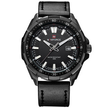 New Luxury Brand NAVIFORCE Watches Men Quartz Hour Date Leather Clock Man Sports Army Military Wrist Watch