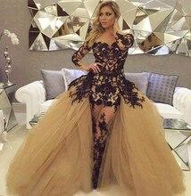 Vestido Para F ormatura 2016 Sexy Sheer Ballkleid Prom Dresses Long Sleeves Abendkleider Bodenlangen Kleider
