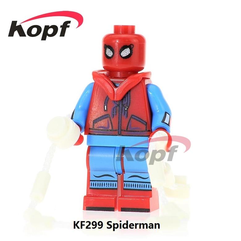 50Pcs KF299 Super Heroes Building Blocks Spiderman Spider-man Spider Man Homecoming Homemade Suit Bricks Action Toys Children