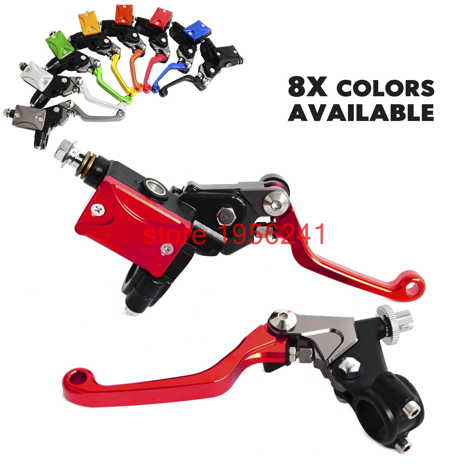 H2CNC Hydraulic Brake & Cable Clutch Lever Set Assembly For Kawasaki KX65 KX85 KX125 KX250 KX250F KX450F KLX250 KLX450R cnc pivot brake clutch lever for kawasaki kx65 kx85 kx125 kx250 kx250f new