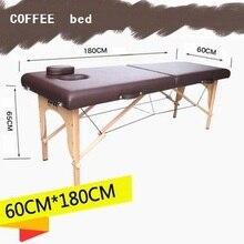 180 см* 60 см спа тату красота мебель бук деревянный ПВХ кожа портативная складная Массажная кровать Патио лицевой стол для массажного салона