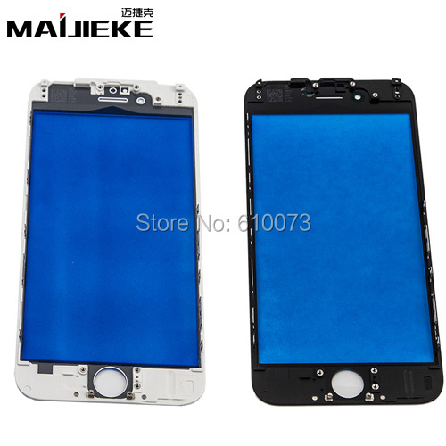 MAIJIEKE Premium A+ 6G Front Glass Lens with Middle frame for iPhone 6S 6 Plus Outer Glass Bezel Housing 5PCS/Lot
