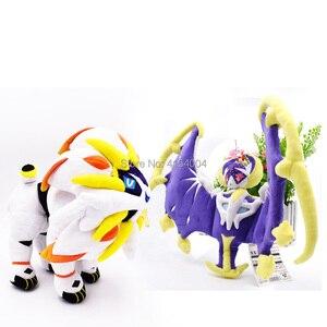 Image 1 - 2 arten Delicate Alola Solgaleo Lunala SONNE & MOND Tier Gefüllte Peluche Plüsch Spielzeug Japanischen Anime Action Figure Puppen