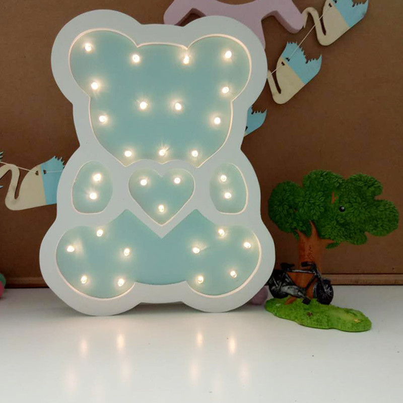 Luzes da Noite urso night light led de Tipo Pacote : 1pc Led Night Light Lamp