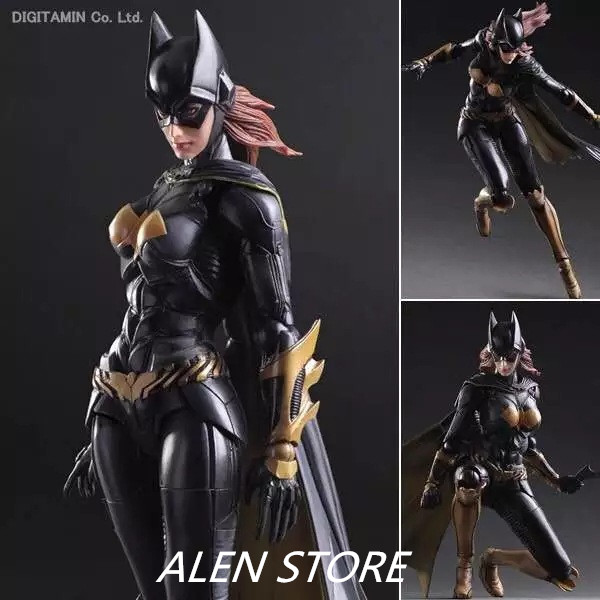 ALEN Batgirl Action Figure Play Arts Kai Batman Arkham Knight PVC Figure Toy Movie Bat Man Playarts Kai Model Justice League batman action figure play arts kai sparda pvc toys 270mm anime movie model sparda bat man playarts kai free shipping gc051