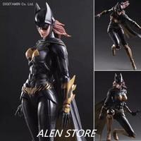 ALEN Batgirl Action Figure Play Arts Kai Batman Arkham Knight PVC Figure Toy Movie Bat Man Playarts Kai Model Justice League