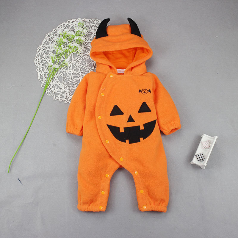 Halloween Costume Pumpkin Baby Clothing one piece Romper Infant Toddler baby Boys Girls Clothes for 0-2Y H933