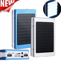 Universeel 30000 mAh Dual USB Draagbare 1.5 W Solar Acculader Power Bank Voor Mobiele Telefoon + USB Oplader Kabels groothandel