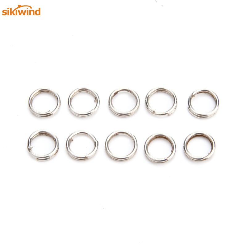 100pcs Stainless Steel Fishing Split Rings Accessories Winter Carp Gear Swivel Lure Baits Connector Fishing Tackle Barrel Hot in Fishing Tackle Boxes from Sports Entertainment
