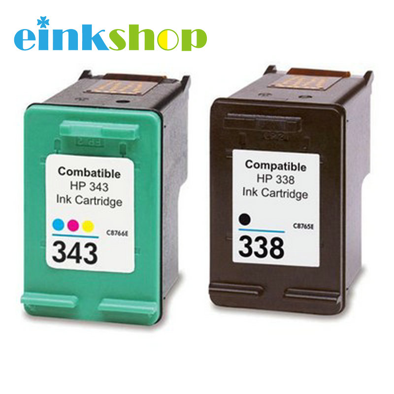einkshop Compatibele inktcartridges voor HP 338 343 voor hp Deskjet 460c 5740 5745 6520 6540 6620 6840 9800 6200 6210 5480 Printer