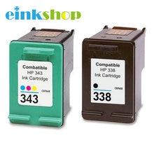 einkshop Compatible Ink Cartridges For HP 338 343 For hp Deskjet 460c 5740 5745 6520 6540 6620 6840 9800 6200 6210 5480 Printer