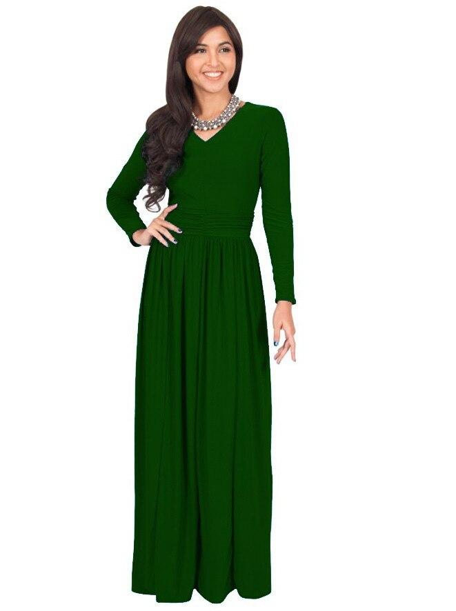 e8c23f814e01 Women Long Sleeve Casual Plain Long Maxi Dress Vintage Irregular dress Plus  Size Full Length Cotton Party Dresses-in Dresses from Women s Clothing on  ...