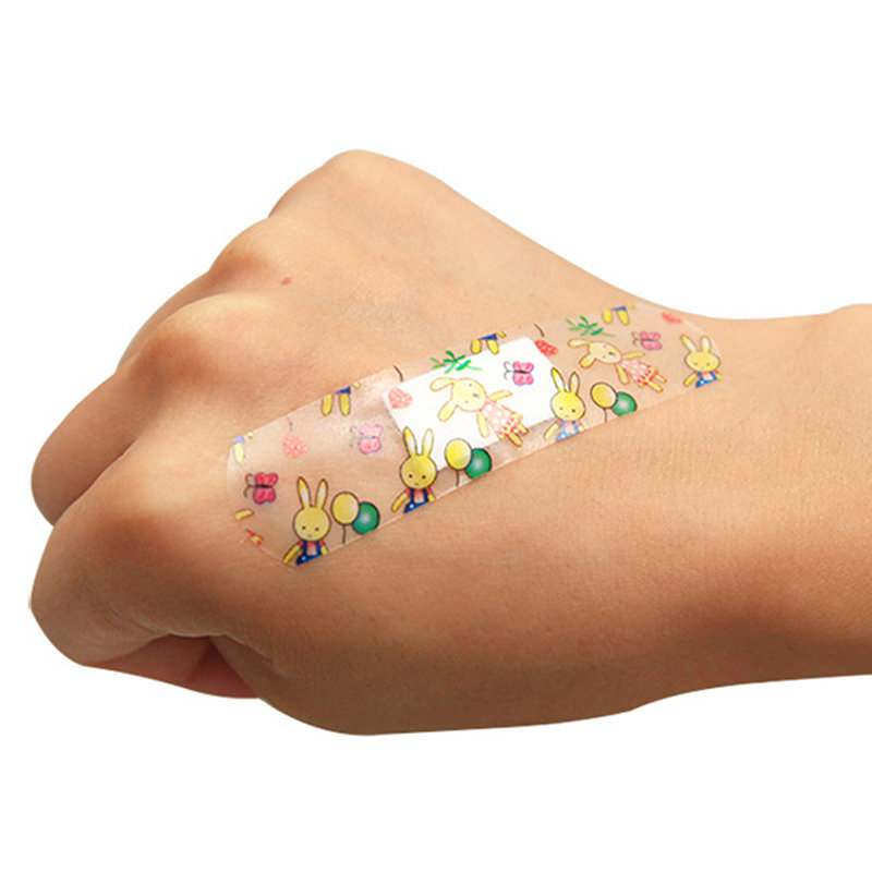 Useful 100pcs Waterproof Breathable Cute Cartoon Band Aid Hemostasis Adhesive Bandages First Aid Emergency Kit For Kids Children