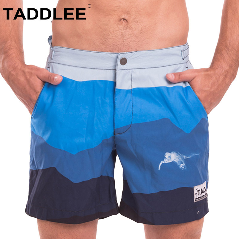 Taddlee brand Swimwear Men Swimsuits Board Shorts Beach Surf Swimming Trunks Quick Drying Boxers Bermuda Sexy Swim Bottoms New
