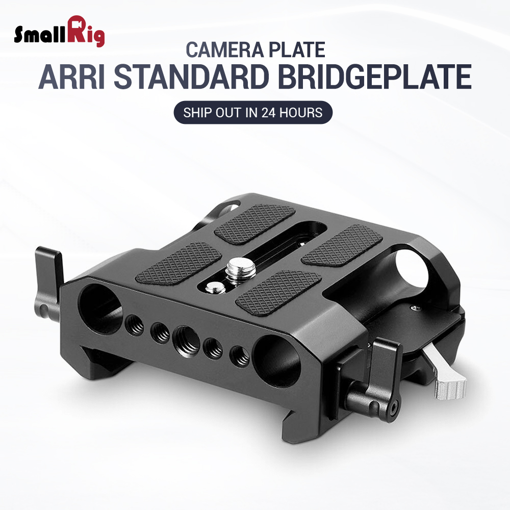 SmallRig Camera Quick Release Plate Standard ARRI Explorer Bridge plate with 15mm LWS Clamps For Video