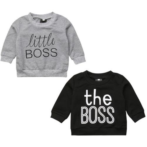 Newborn Toddler Kids Baby Boy Girl Clothing Cotton Tops T-shirt Sweatshirt Warm Cotton Letter Clothes Autumn Boys 0-5T cotton letter patterned t shirt