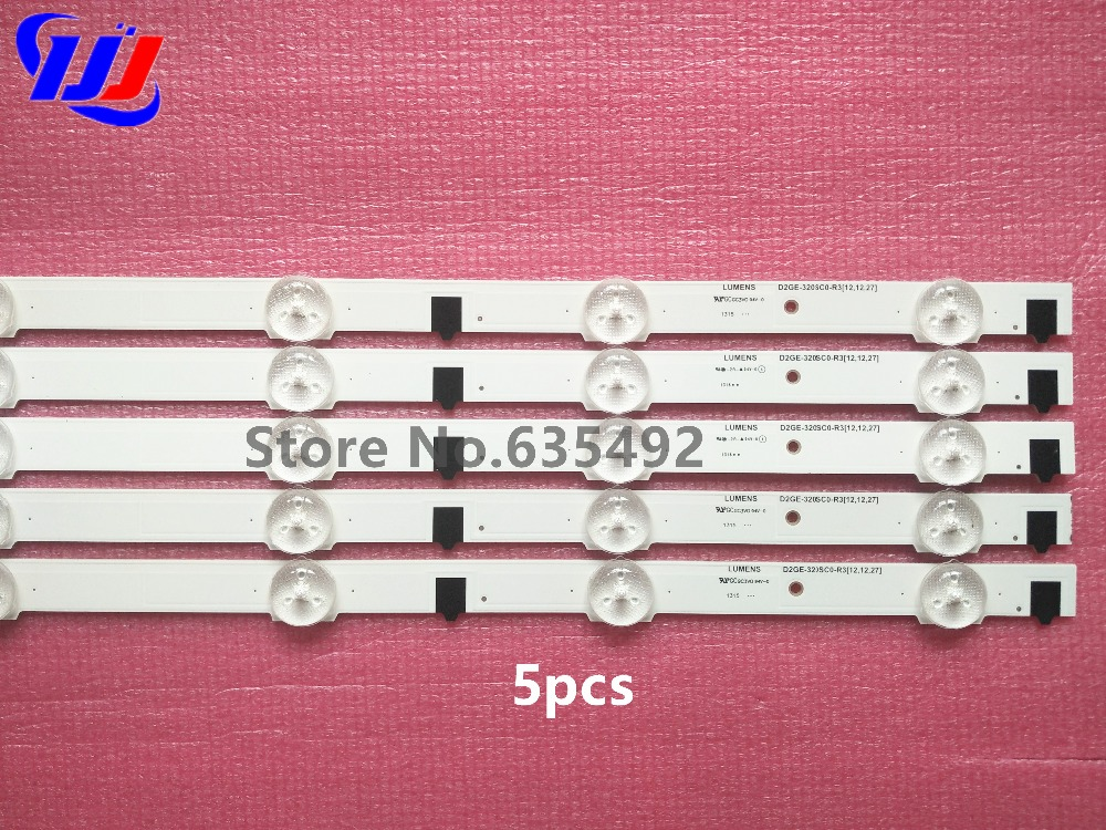 5pcs/lot 650mm LED Backlight Lamp strip 9 leds For SamSung UA32F4088ARAJUA 2013SVS32H D2GE-320SC0 32 inch
