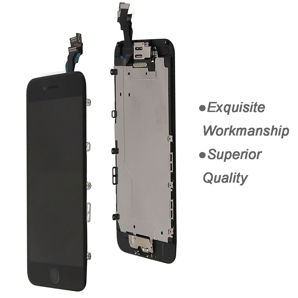 Image 4 - Full set screen For iPhone 6 6G 6 plus Screen LCD Replacement Display ,complete With Home Button Front Camera Speaker-in Mobile Phone LCD Screens from Cellphones & Telecommunications on