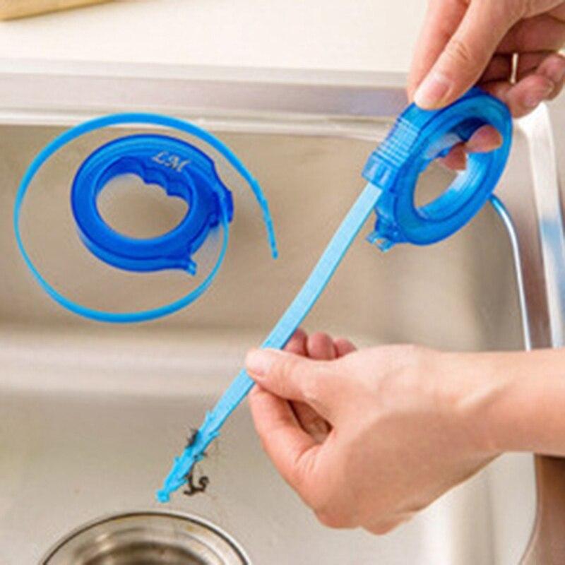 Nuevo 1 Unid Plástico Retráctil Cepillos De Limpieza Escurrir Hair Removal Tool