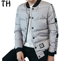New Slim Fit Spring Autumn Winter Bomber Jacket Men Letter Print Fashion Baseball Coat Man Casual Outerwear #161974