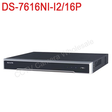 DS-7616NI-I2/16P English version 12MP 16CH NVR with 2 sata 16POE ports, Embedded Plug & Play NVR H.265