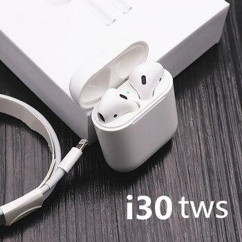 i30 TWS Pop-up Wireless Earphone 6D Super Bass Bluetooth 5.0 Earphone i30tws PK w1 chip 1:1 i10 i20 tws i12 tws