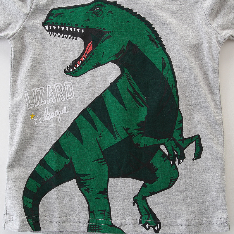boy clothing long sleeve Tops Children t shirt spring 2019 new cartoon dinosaur print Tees Boys t shirt top Kids top clothes in T Shirts from Mother Kids