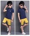 6 - 13 год детская одежда комплект дети шорты т-рубашки 2 шт. большие мальчики спортивный костюм комплект для мальчика комплект