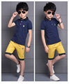6 -13 year  children clothing set kids shorts + t shirts 2 pcs big boys sport suit set for boy set