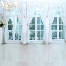 Laeacco Chandelier French Window Curtain Portrait Photographic Background Customized Photography Backdrops For Photo Studio