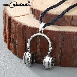 Trendy Hip Kulaklık Tasarımı Kolye Kolye Vintage 3D Müzik Kulaklık Kolyeler Takı Kadınlar Için Erkekler Aşk Müzik Hediyeler Collares