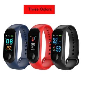 Image 2 - 3 Colors Fitness Bracelet Blood Pressure Outdoor IPS Screen Heart Rate Monitor Life Waterproof Smart Wristbands PK Mi Band 4