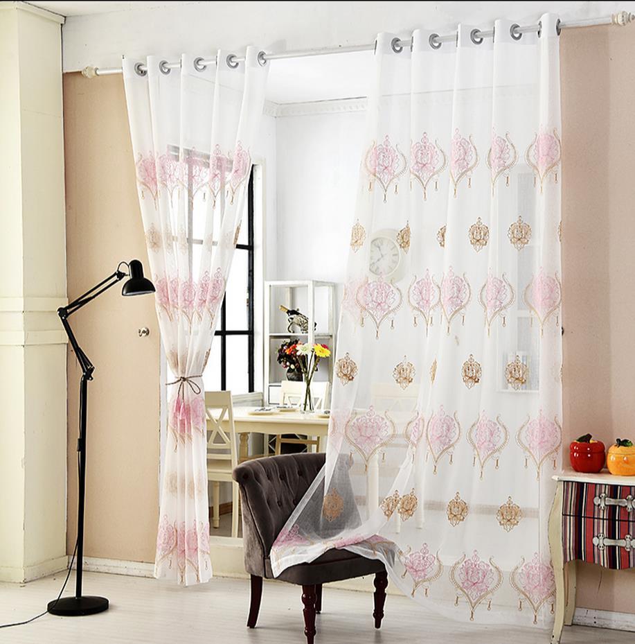tipo de europa de la gasa cortina cortina dormitorio sala de estar terminados tela de hilo