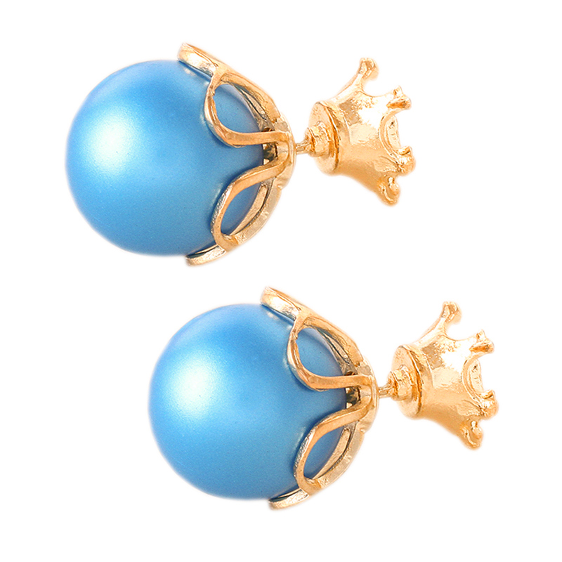 Vintage Pearl Stud Earrings For Women Ohrringe Jewelry 2017 Brand Design Charm Colorful Double Statement Star Paragraph E0326 In From