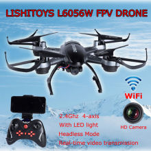 Free shipping! L6056W 2.4G WiFi 4-Axis Gyro Mini RC Quadcopter Helicopter Drone With HD Camera