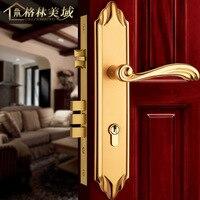 European style simple interior door lock retro all copper door lock luxury wooden door lock mechanical locks