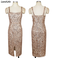 New Great Gatsby Dress Women Sequined Great Gatsby Dress Square Collar Slit Sequined 1920s Vintage Party