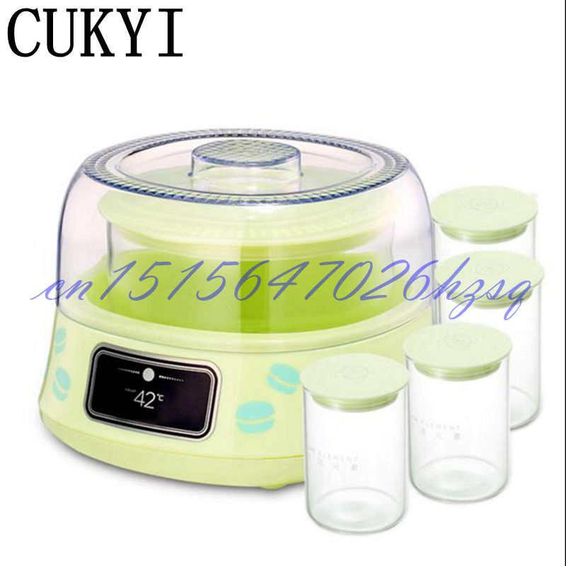 CUKYI 10W Household Electric Automatic yogurt machine 1L capacity Stainless steel liner Mini Multiple functional Yogurt maker hot selling electric yogurt machine stainless steel liner mini automatic yogurt maker 1l capacity 220v