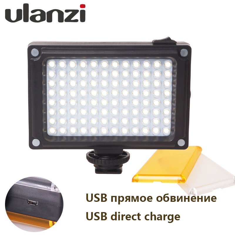 Ulanzi NEW 96 LED Panel Video Light Photo Fill Light on Camera Video Hotshoe LED Lamp Lighting for Camera Camcorder DSLR
